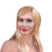 Jennifer Laurence completamente truccato 3d model