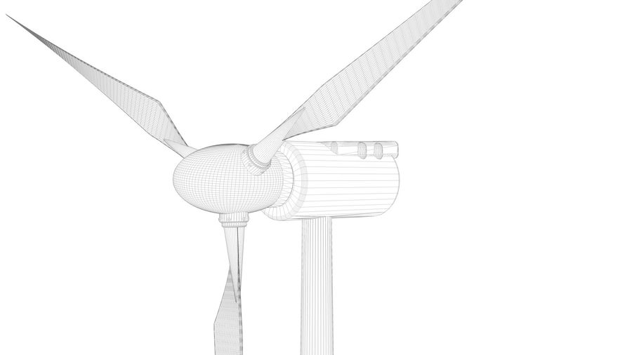 horizontaler Windgenerator royalty-free 3d model - Preview no. 10