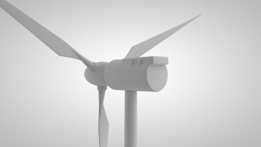 horizontaler Windgenerator royalty-free 3d model - Preview no. 3