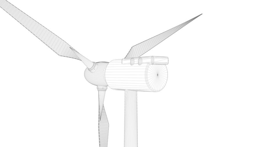 horizontaler Windgenerator royalty-free 3d model - Preview no. 11