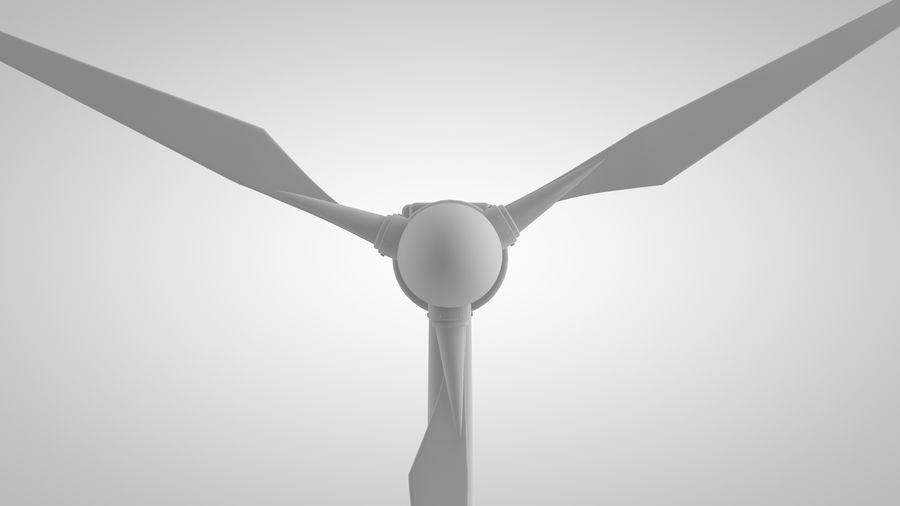 horizontaler Windgenerator royalty-free 3d model - Preview no. 8
