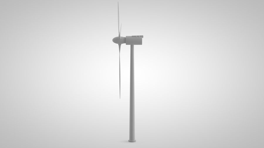 horizontaler Windgenerator royalty-free 3d model - Preview no. 6