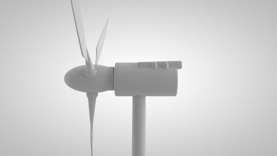 horizontaler Windgenerator royalty-free 3d model - Preview no. 2
