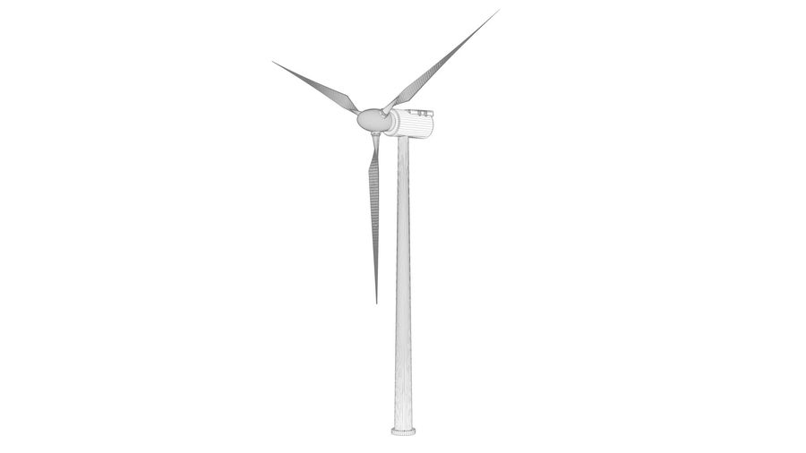 horizontaler Windgenerator royalty-free 3d model - Preview no. 9