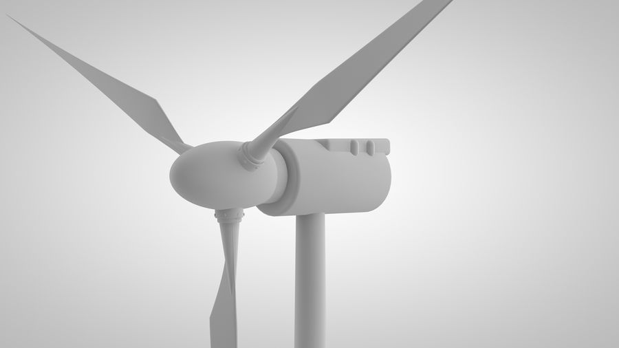 horizontaler Windgenerator royalty-free 3d model - Preview no. 1