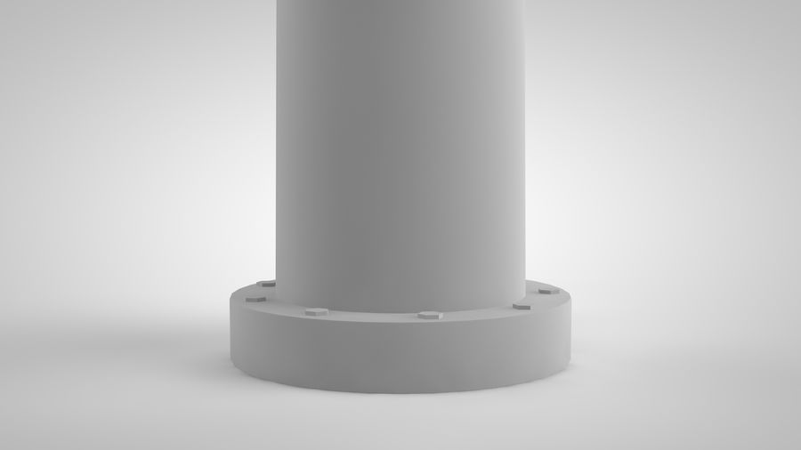 horizontaler Windgenerator royalty-free 3d model - Preview no. 4