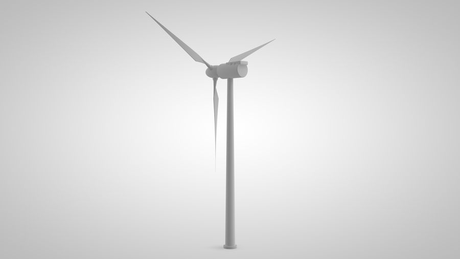 horizontaler Windgenerator royalty-free 3d model - Preview no. 7