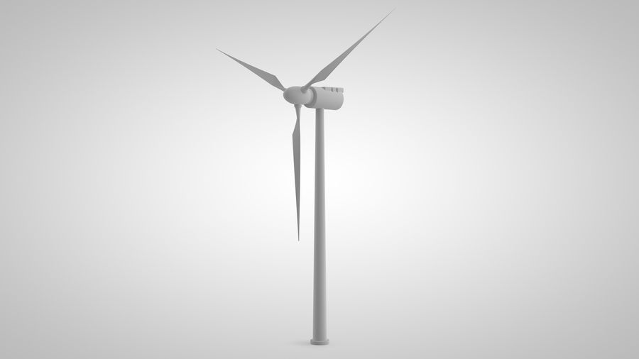 horizontaler Windgenerator royalty-free 3d model - Preview no. 5