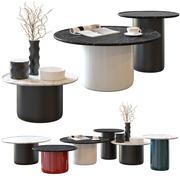 Button Tables en Joker Vases van B&B Italia 3d model