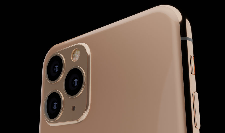 iPhone 11 Pro royalty-free 3d model - Preview no. 3