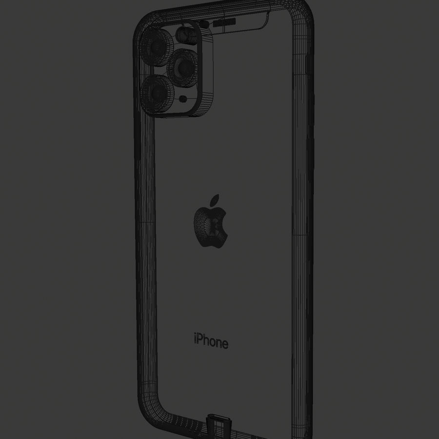 iPhone 11 Pro royalty-free 3d model - Preview no. 4