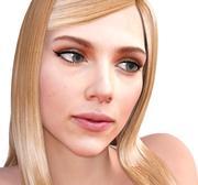 Scarlett Johansson 3d model full rigged 3d model