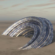 Futuristisk byggnad 3d model