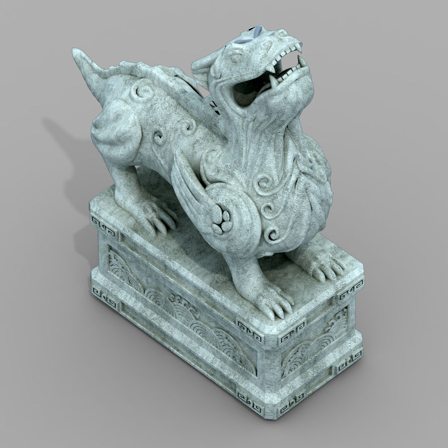 Decoration - Animal Beast 06 royalty-free 3d model - Preview no. 1