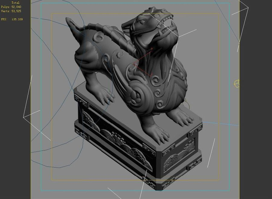 Decoration - Animal Beast 06 royalty-free 3d model - Preview no. 5