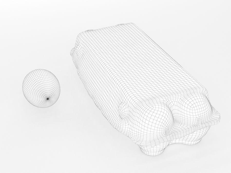 Karton na jajka 001 royalty-free 3d model - Preview no. 14