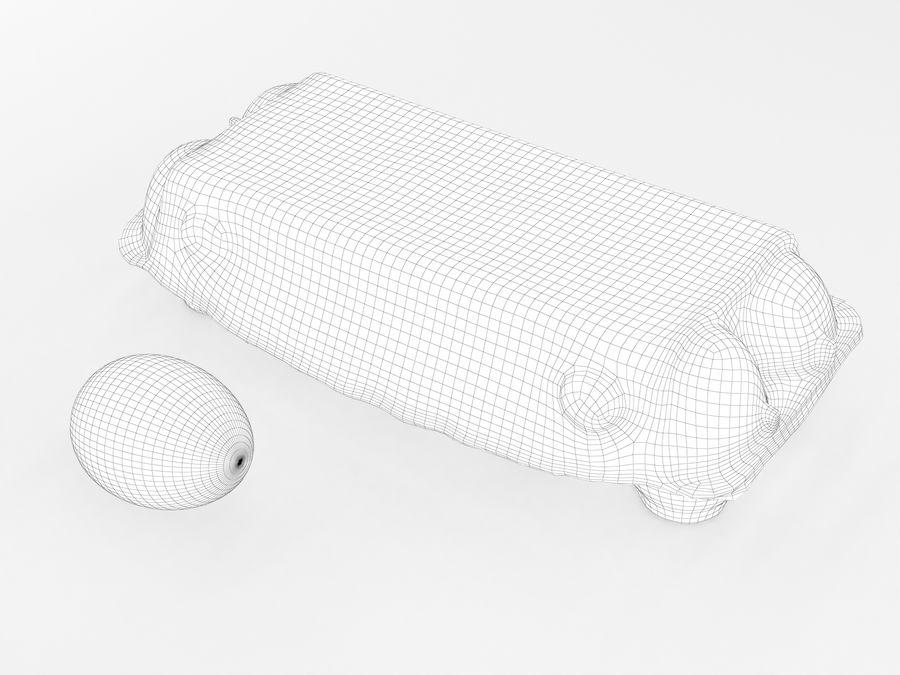 Karton na jajka 001 royalty-free 3d model - Preview no. 11