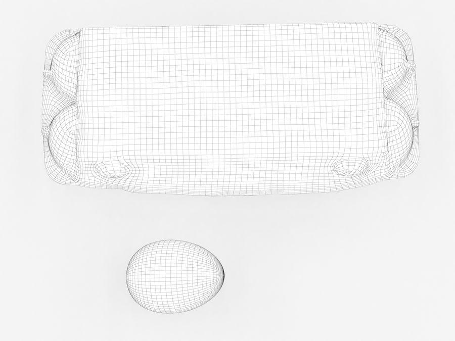 Karton na jajka 001 royalty-free 3d model - Preview no. 19