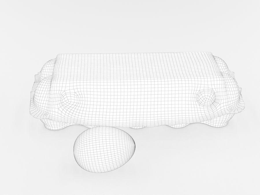 Karton na jajka 001 royalty-free 3d model - Preview no. 12