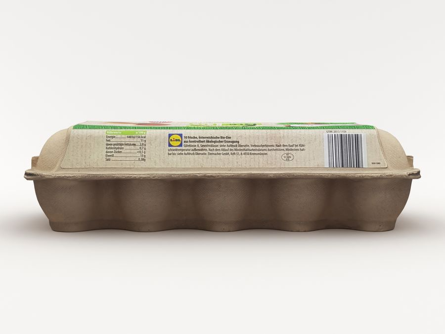 Karton na jajka 001 royalty-free 3d model - Preview no. 9