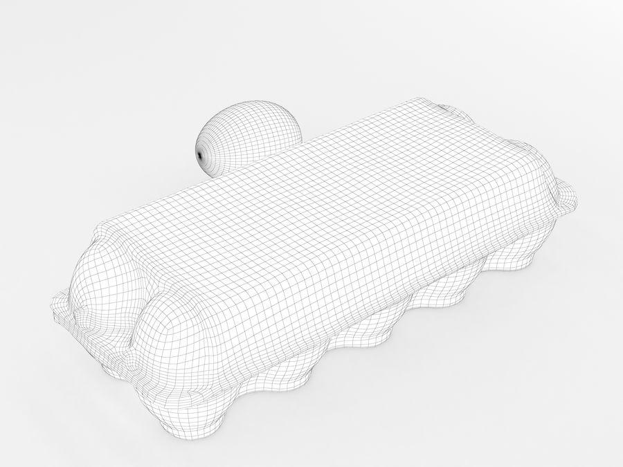Karton na jajka 001 royalty-free 3d model - Preview no. 17
