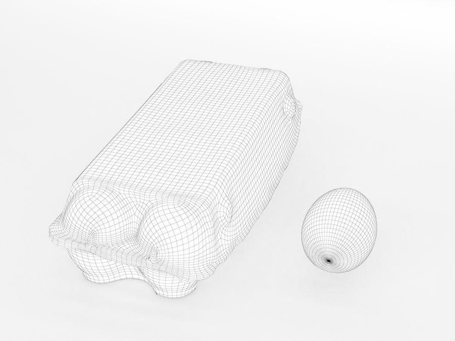Karton na jajka 001 royalty-free 3d model - Preview no. 13