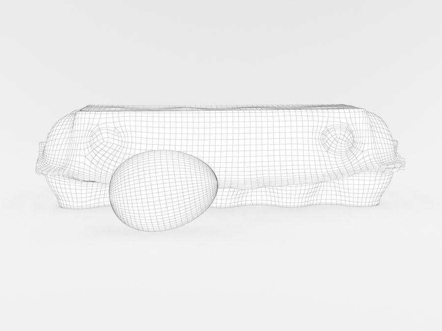 Karton na jajka 001 royalty-free 3d model - Preview no. 16