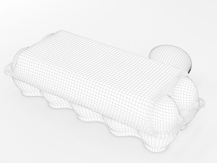 Karton na jajka 001 royalty-free 3d model - Preview no. 15