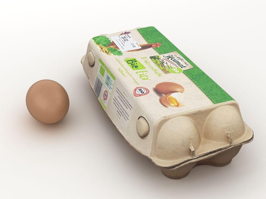 Karton na jajka 001 royalty-free 3d model - Preview no. 5