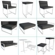 Sit Metalik Dış Mekan Seti 3d model