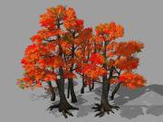 Лес - Красное Дерево 03 3d model