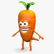 Cartoon Mad Carrot 3d model