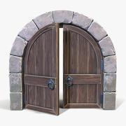 様式化されたアーチ型ドア 3d model