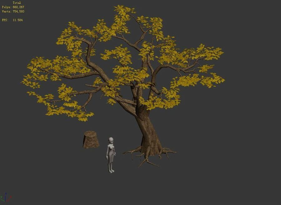 Plants - Trees 326 royalty-free 3d model - Preview no. 5