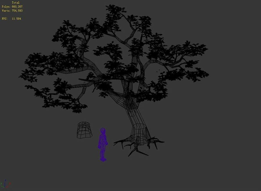 Plants - Trees 326 royalty-free 3d model - Preview no. 4