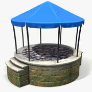 Stylized Pavilion 3d model