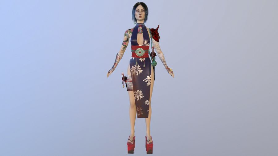Asian royalty-free 3d model - Preview no. 2