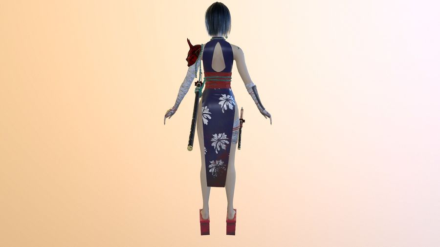 Asian royalty-free 3d model - Preview no. 5