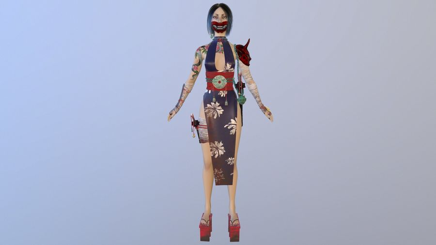 Asian royalty-free 3d model - Preview no. 3