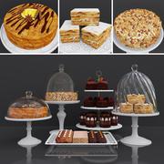 Dessert Peanut cake and Honey cake 3d model