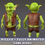 Gioco Goblin pronto + animato 3d model