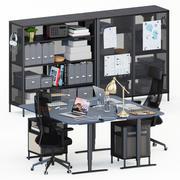 Miejsce pracy Ikea Bekant 3d model