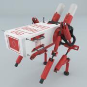 Modello di lettura robot 3d model