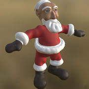 Jultomten inte riggad PBR 3d model