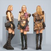 启示录时装模特 3d model