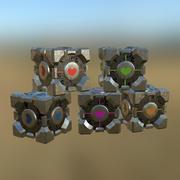 Portal Cube 01 PBR modelo 3d