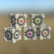 Portal Cube 02 PBR modelo 3d