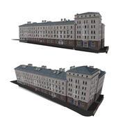 Backsteinhaus mit Geschäften (1) 3d model