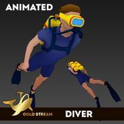 Mergulhador (anim) 3d model