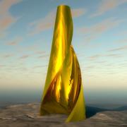 Konstiga guldtorn 3d model